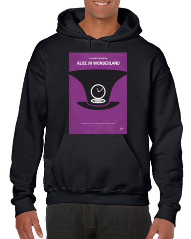 Alice In Wonderland Minimal Movie Poster Hoodie