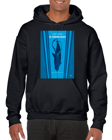 Big Blue Minimal Movie Poster Hoodie