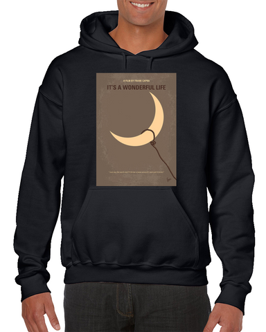 Its A Wonderful Life Minimal Movie Poster Hoodie