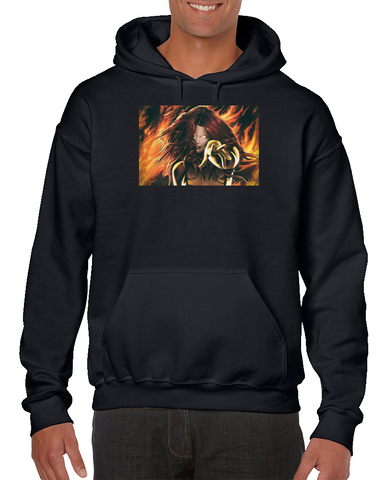 Dark Phoenix Woman Girl X-men Superhero Comics Hoodie