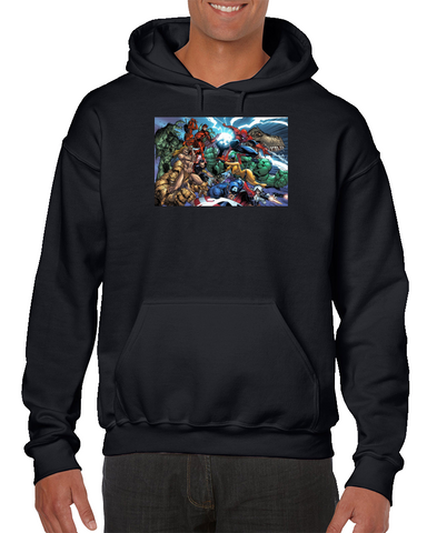 Captain America Deadpool Spider-man Hulk Thing Comics Hoodie