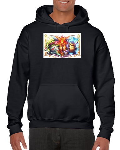 a85f9d21 Pokemon Pikachu Bulbasaur Ivysaur Venusaur Charmander Video Game Poster  Hoodie