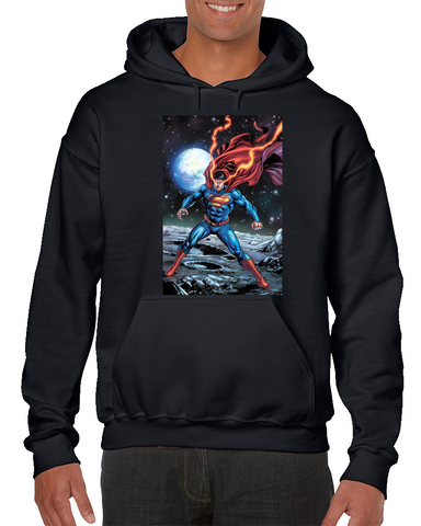 Superman Flaming Eyes Comics Hoodie