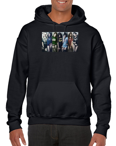 Hot Girls Batman Iron Man Green Lantern Comics Hoodie