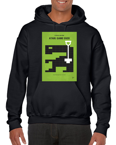 Atari Game Over Minimal Movie Poster Hoodie
