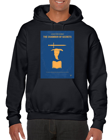 Hp  Chamber Of Secrets Minimal Movie Poster Hoodie