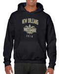 Wrestlemania 34 New Orleans Black Jerse Wrestling Hoodie