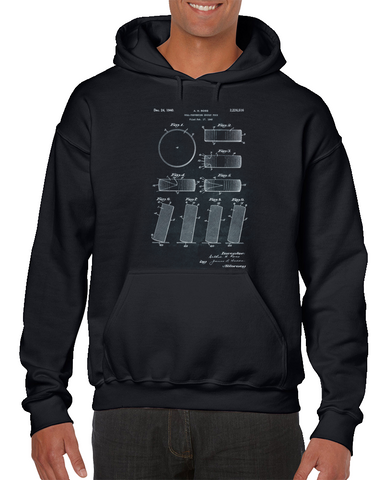 - Roll Preventing Hockey Puck - Ross Patent Hoodie