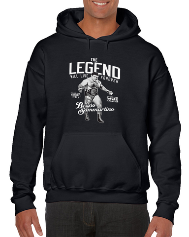Bruno Sammartino The Legend Will Live Forever Wrestling Hoodie