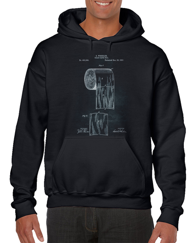 - Toilet Paper Roll - Inventor Wheeler Patent Hoodie