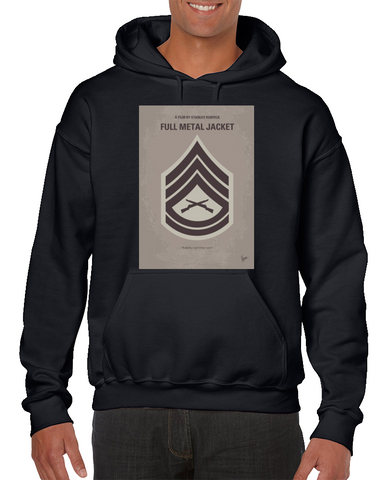Full Metal Jacket Minimal Movie Poster Hoodie