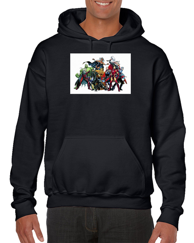 Hulk Captain America Iron Man Thor Superheroes Comics Hoodie