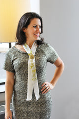 Golden Rose Scarf Tie