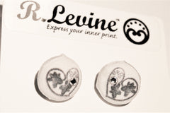 Paw and Heart Stud Earrings