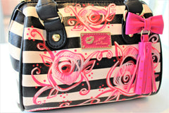 Pinky Rose Stripe Mini Purse