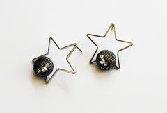 Silver Mist Star Earrings