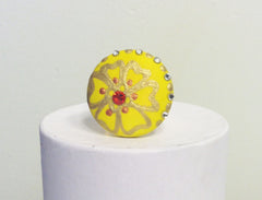 Sunshine Pansy Ring