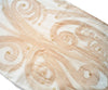 Double Scarf Hand Painted Tan Swirl