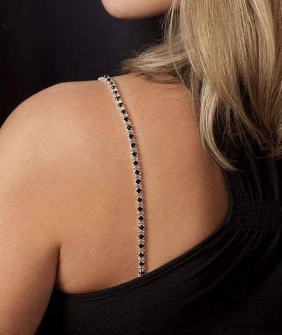 Black Crystal Bra Straps