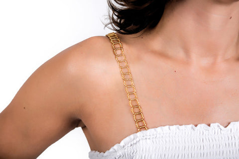 Gold Beaded Bra Straps