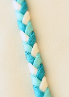 Turquoise Blue Braided Bra Straps
