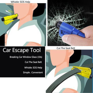 3 In 1 Car Safety Hammer Emergency Escape Tool
