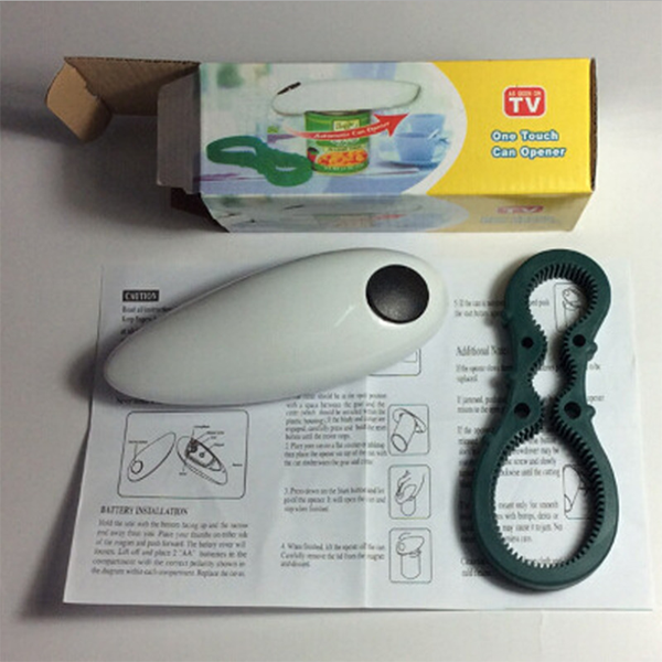 One touch automatic can opener