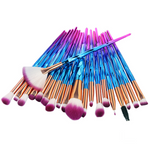 20Pcs Zircon Pattern Fiber Hair Makeup Brush Set-Beauty & Fashion-fancy2pick.com-