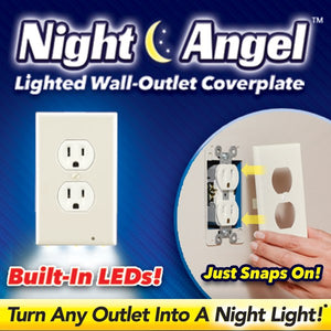 Guidelight Outlet Wall Plate With Led Night Lights No Batteries