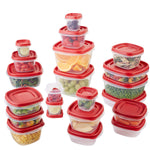 Easy Find Lids Food Storage Containers-5PACK in Combination Of Different Sizes