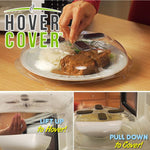 Hover Cover - Magnetic Microwave Splatter Lid With Steam Vents