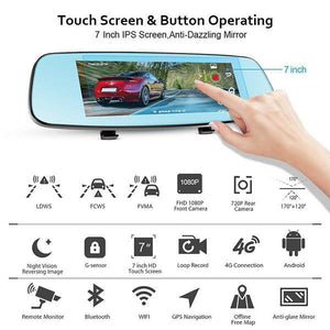 Rearview Mirror Video Recorder-Vehicles & Parts-fancy2pick.com