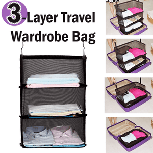 3 Layers Portable Travel Storage Rack Holder-Home & Garden-fancy2pick.com-fancy2pick