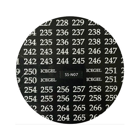ICE GEL numbering sticker SS-N07