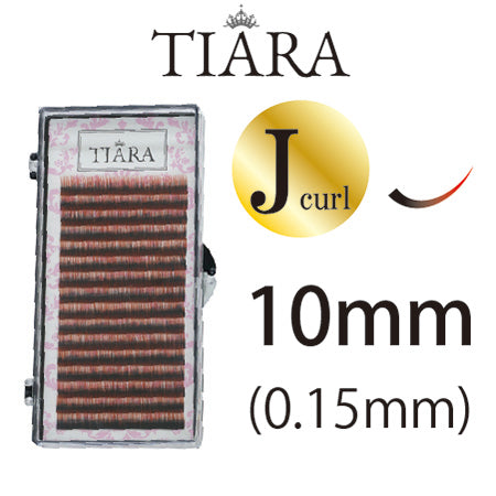TIARA Gradation Color Lash Red & Black J Curl 10mm