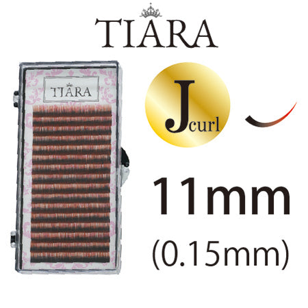 TIARA Gradation Color Lash Red & Black J Curl 11mm
