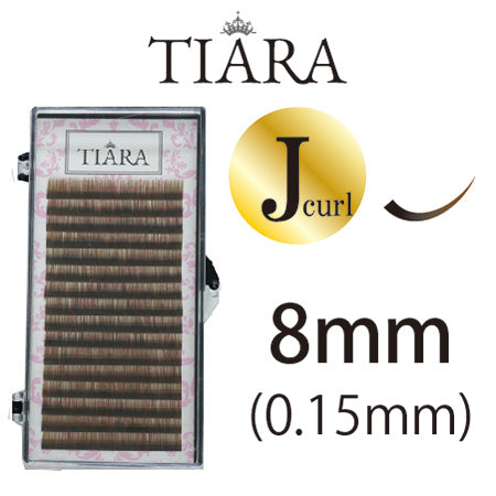 TIARA Gradation Color Lash Brown & Black J Curl 8mm