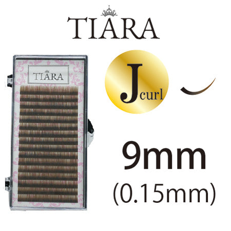 TIARA Gradation Color Lash Brown & Black J Curl 9 mm