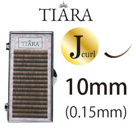TIARA Gradation Color Lash Brown & Black J Curl 10 mm