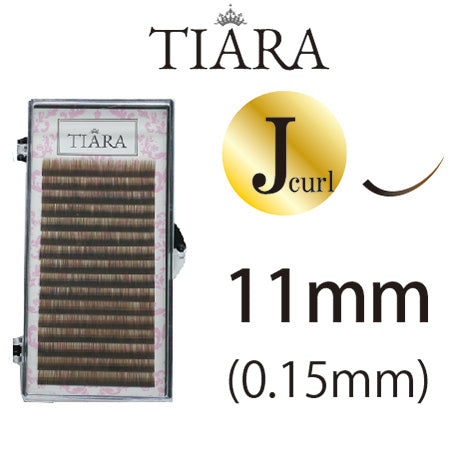 TIARA Gradation Color Lash Brown & Black J Curl 11 mm