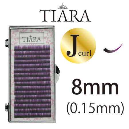 TIARA Gradation Color Lash Purple & Black J Curl 8mm