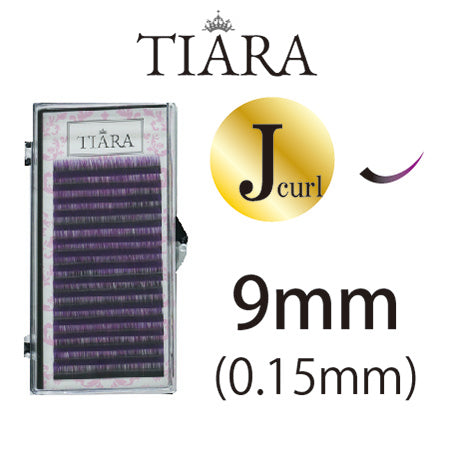 TIARA Gradation Color Lash Purple & Black J Curl 9mm