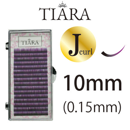 TIARA Gradation Color Lash Purple & Black J Curl 10mm
