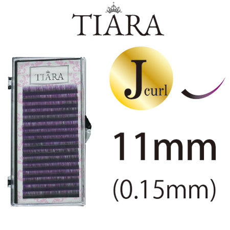 TIARA Gradation Color Lash Purple & Black J Curl 11mm