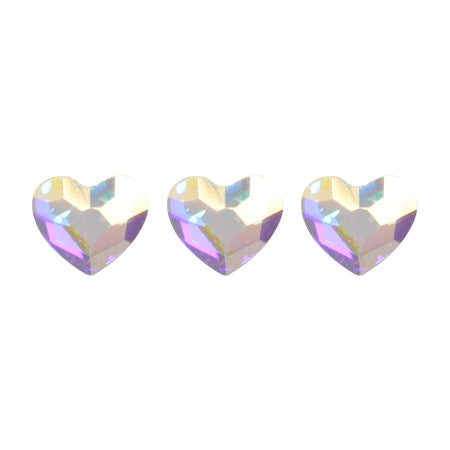 Swarovski Crystal  AB (Aurora)  # 2808 Heart 3.6mm 10P