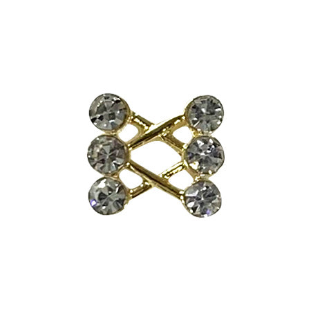 Lady Grace Nail Accessories Gold Crystal 5P