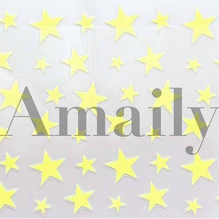 amaily No. 5-32 stars (fluorescent yellow)