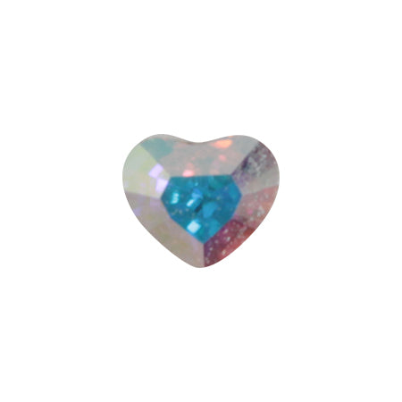 Swarovski Crystal Crystal AB  # 4883 Mini Heart   3.6mm x 3.1mm 6P