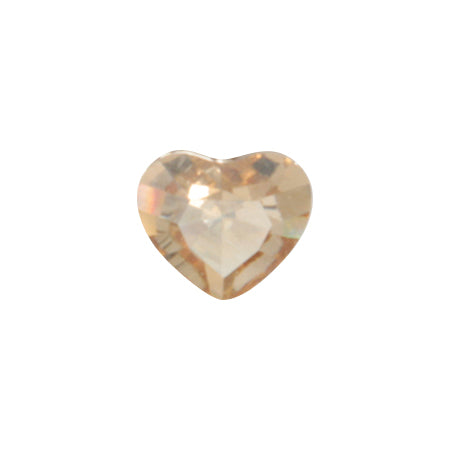 Swarovski Crystal Golden Shadow   # 4883 Mini Heart  3.6mm x 3.1mm 6P