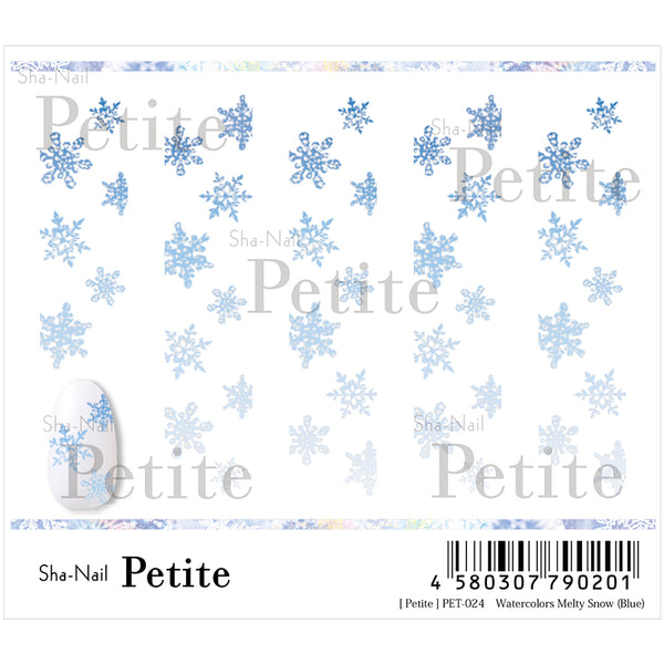 Copy Nail Petite Water Colors Melty Snow  Blue
